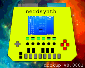 This is a mockup and the Nerdsynth will most probably look and feel different in the end!